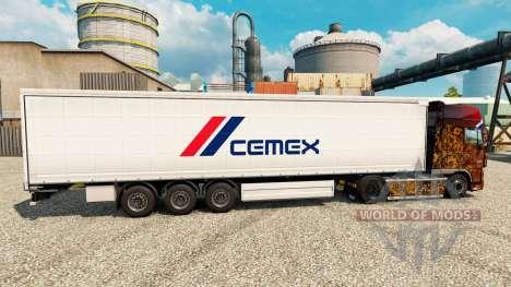 Pele Cemex para reboques para Euro Truck Simulator 2