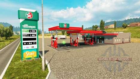 Real postos de gasolina v0.3 para Euro Truck Simulator 2