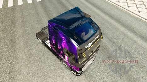 Roxo Tigre pele para a Volvo caminhões para Euro Truck Simulator 2