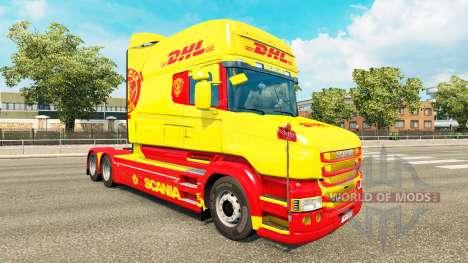 Pele DHL para a Scania T caminhão para Euro Truck Simulator 2