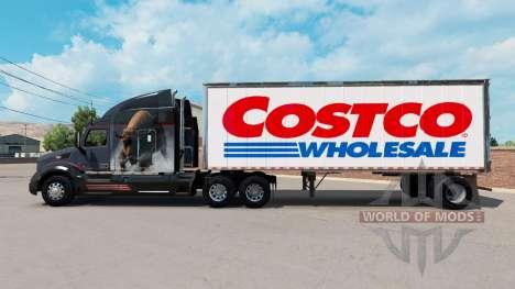 Pele Costco Wholesale em um pequeno trailer para American Truck Simulator