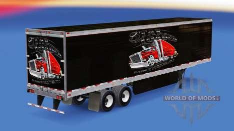 A pele Ficar Carregado em refrigerada com semi-r para American Truck Simulator