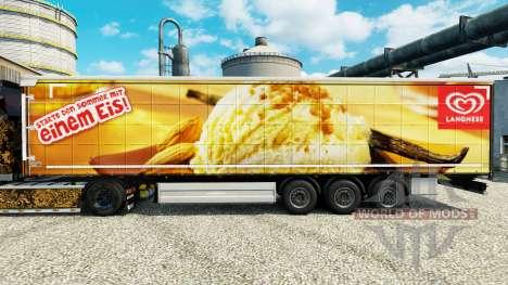 Langnese pele para reboques para Euro Truck Simulator 2