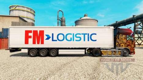 Pele FM Logística na semi para Euro Truck Simulator 2
