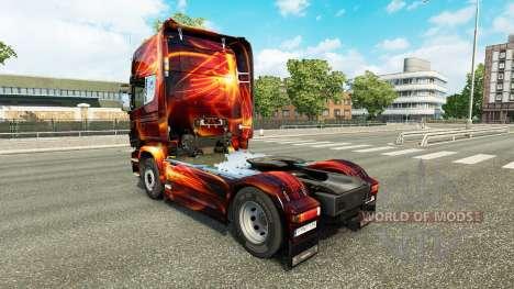 Incêndio Efeito de pele para o Scania truck para Euro Truck Simulator 2