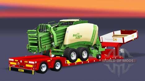 Baixa varrer com enfardadeira de fardos para Euro Truck Simulator 2