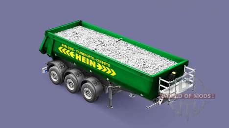 Semi-reboque basculante Schmitz Cargobull HEIN para Euro Truck Simulator 2