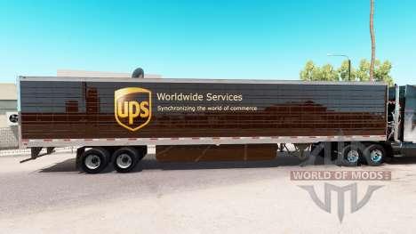 Pele UPS estendida do trailer para American Truck Simulator
