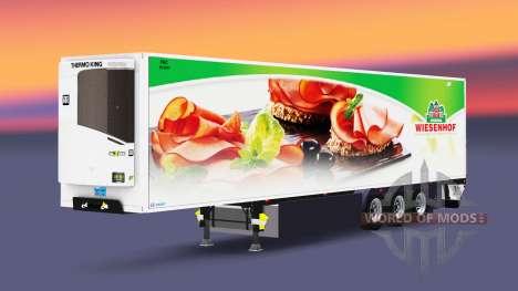Caminhão de cargas reefer PT Wiesenhof para Euro Truck Simulator 2