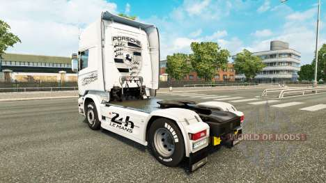 Pele Porsche trator Scania para Euro Truck Simulator 2