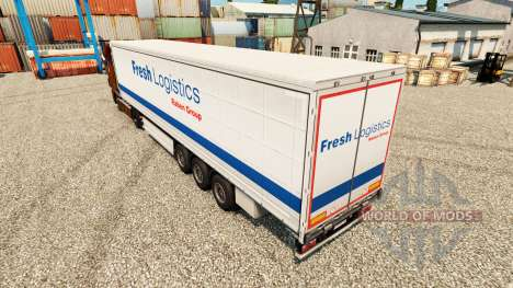 Fresco Logística pele para reboques para Euro Truck Simulator 2