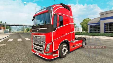 De pele simples para a Volvo caminhões para Euro Truck Simulator 2