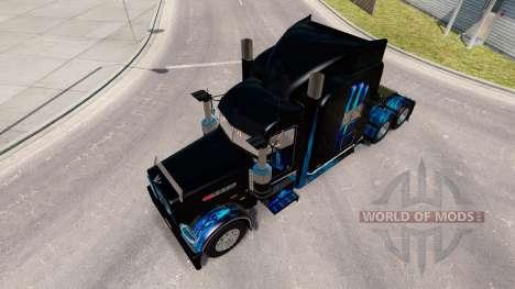 A pele do Monstro Energia Azul para o caminhão P para American Truck Simulator