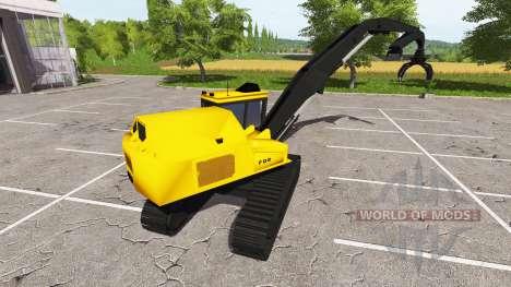 Boom balde carregador de retroescavadeira para Farming Simulator 2017