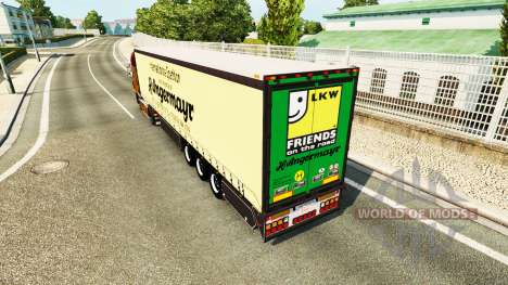 Cortina semi-reboque Vogelzang Angermayr para Euro Truck Simulator 2