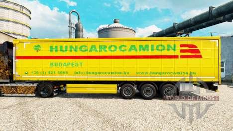 Hungarocamion pele para reboques para Euro Truck Simulator 2