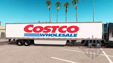 Pele Costco Wholesale estendida do trailer para American Truck Simulator