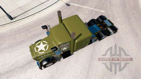 WW2 a pele Limpa para o caminhão Peterbilt 389 para American Truck Simulator