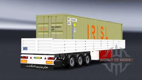 Mesa semi-reboque com carga contentorizada para American Truck Simulator