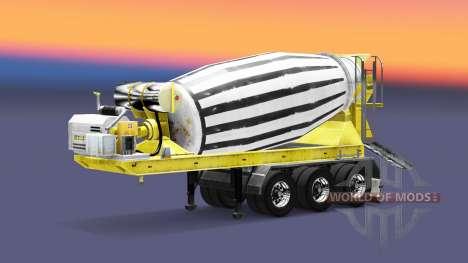 Semi-reboque misturador concreto para Euro Truck Simulator 2