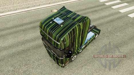 Listras verdes pele para o Scania truck para Euro Truck Simulator 2