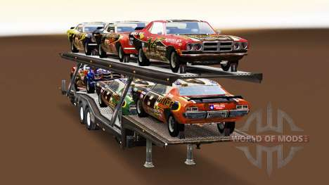 Carro Transportador, com carros de FlatOut para American Truck Simulator