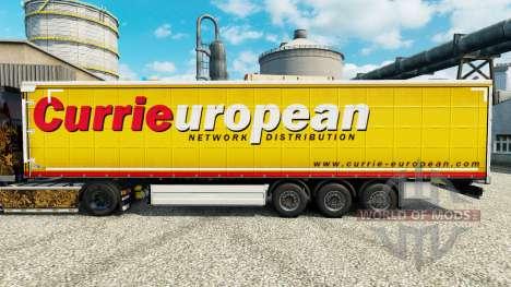 Pele Caril Europeia reboques para Euro Truck Simulator 2