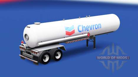 A pele da Chevron no tanque de gás semi-reboque para American Truck Simulator