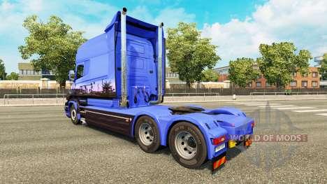 Euro Trans pele para a Scania T caminhão para Euro Truck Simulator 2