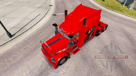 A pele do Arizona, EUA Vermelho trator Peterbilt para American Truck Simulator