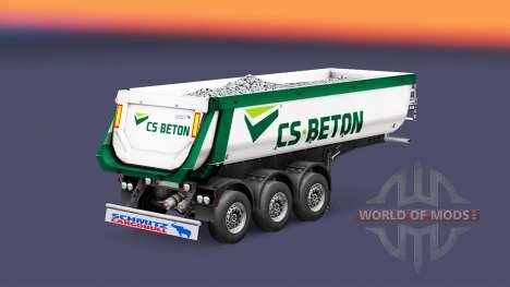 Semi-reboque basculante Schmitz Cargobull CS-CON para Euro Truck Simulator 2