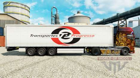 Pele Transportes Progresso na semi para Euro Truck Simulator 2