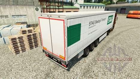 Pele de Veado Staubgut Transporte de semi-reboqu para Euro Truck Simulator 2