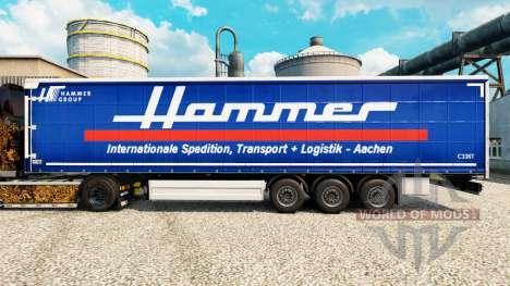 Pele Martelo Grupo na semi para Euro Truck Simulator 2