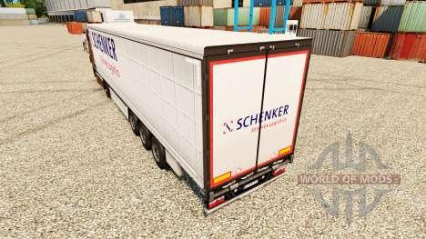 Pele Schenker Stinnes Logística para reboques para Euro Truck Simulator 2