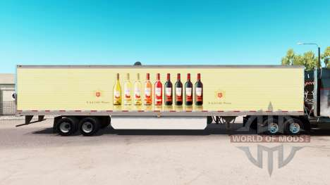 Pele E & J Gallo Winery no extended trailer para American Truck Simulator