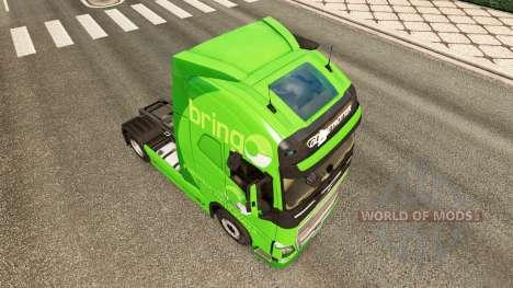 Trazer a pele para a Volvo caminhões para Euro Truck Simulator 2