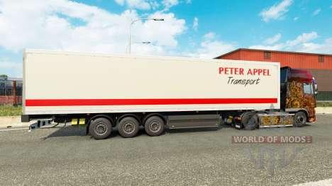 Pedro Appel pele para reboques para Euro Truck Simulator 2