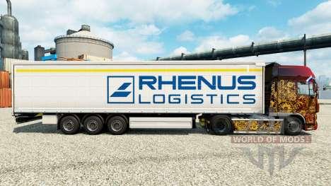Rhenus Logística pele para reboques para Euro Truck Simulator 2