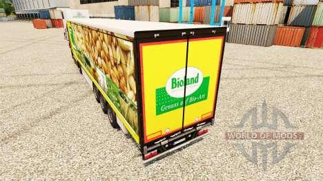 Pele Bioland para reboques para Euro Truck Simulator 2