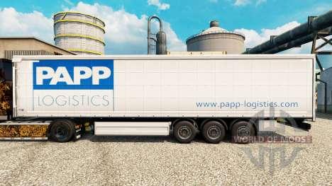 Pele Papp Logística para reboques para Euro Truck Simulator 2