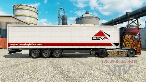 A Ceva Logistics pele para reboques para Euro Truck Simulator 2