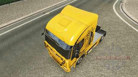 Pele Amarela Diabo no caminhão Iveco para Euro Truck Simulator 2