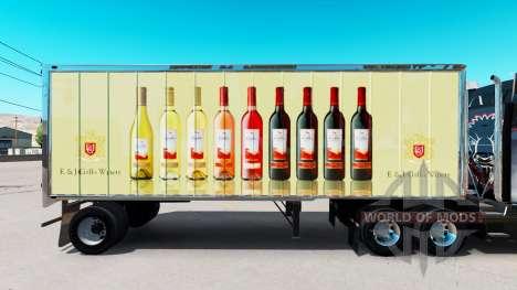 Pele E. & J. Gallo Winery no pequeno trailer para American Truck Simulator