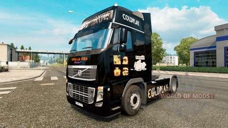 Coldplay pele para a Volvo caminhões para Euro Truck Simulator 2