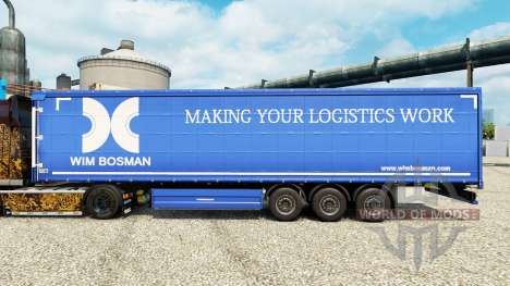 Wim Bosman pele para reboques para Euro Truck Simulator 2