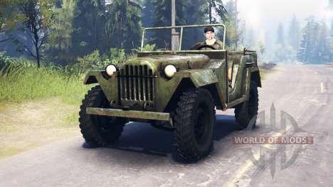 O GAZ-67 1943 para Spin Tires