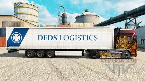 DFDS Logística pele para reboques para Euro Truck Simulator 2