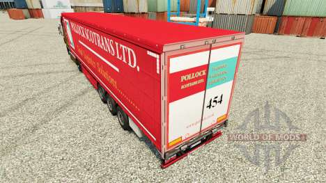 Pele Pollock Scotrans Ltd. na semi para Euro Truck Simulator 2
