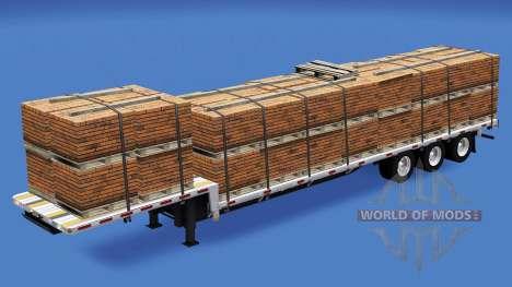 Baixa varrer com a construção cargas v1.2 para American Truck Simulator